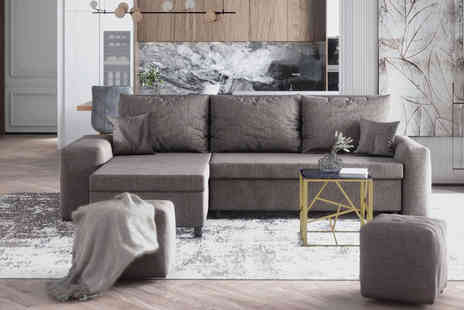Selsey - Levebre corner sofa with pouffe choose from five colours - Save 32%
