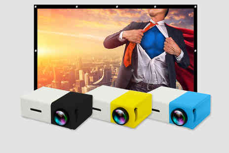PinkPree - YG-300 home projector with an 84 Inch projection screen - Save 67%