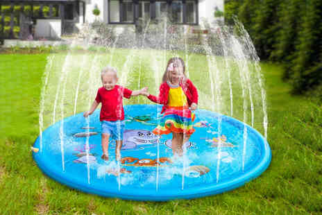 Wishwhooshoffers - Inflatable children's sprinkler splash mat choose from three sizes - Save 0%