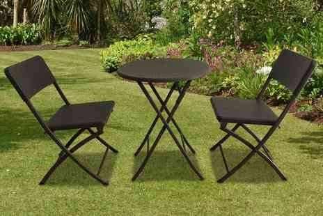 Cufflinks Gift Hub - Two seater durable polyrattan bistro set - Save 0%