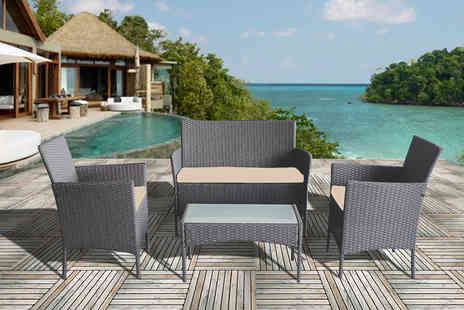 Bright Associates - Four piece polyrattan garden furniture set - Save 50%