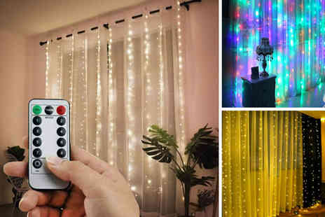 WhoGotThePlan - Set of Led curtain lights choose from two sizes - Save 0%