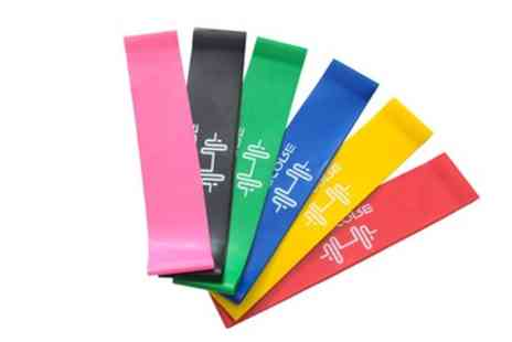 Groupon Goods Global GmbH - Six Exercise Resistance Bands - Save 0%