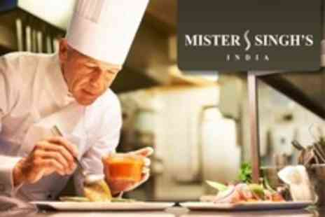 Mister Singhs - Pakora Masterclass For One With Three Course Indian Set Meal and Drinks - Save 48%