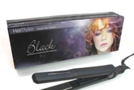 Pure Parfum - Titanium plate technology Hair Straightener - Save 77%