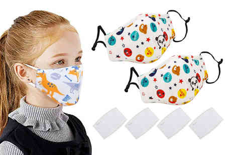 Wishwhooshoffers - Pack of two kids face masks - Save 0%