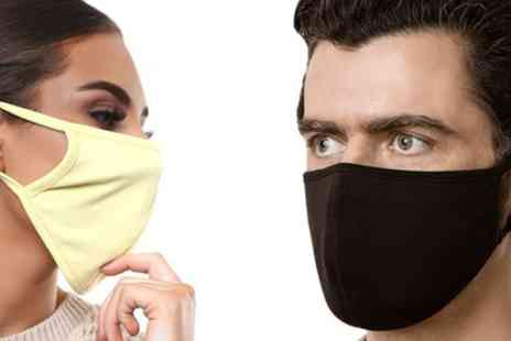 Groupon Goods Global GmbH - Up to 10 Double Ply Cotton Face Masks - Save 0%