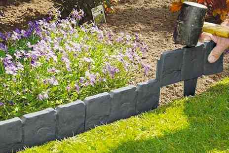 Domo Secret - 10 pack of stone effect lawn edging - Save 68%