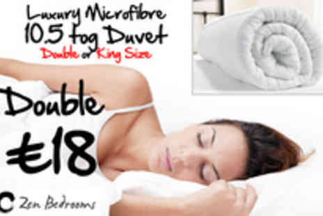 Zen Bedrooms - Microfibre Double duvet - Save 88%