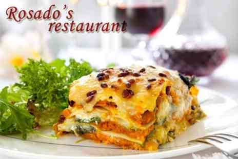 Rosados Restaurant - Three Course Italian Meal For Two With Glass of Wine Each - Save 60%