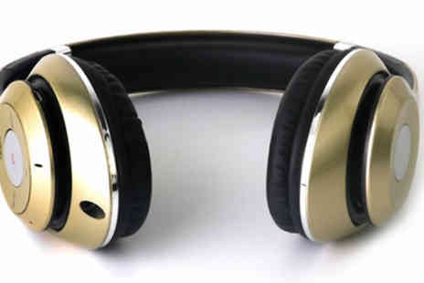 Arther Gold - Wireless Bluetooth Stereo Headphones - Save 68%