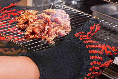 Secret Storz - Pair of heat resistant barbecue oven gloves - Save 0%