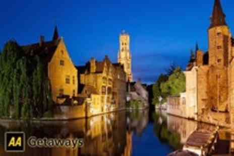 AA Getaways - 2 Night stay for 2 at the 4star Golden Tulip de Medici, Bruges including return Eurostar travel & breakfast - save 25% - Save 25%