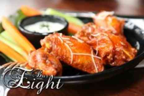 Bar Eight - 10 Chicken wings and a choice of beer or spirit & mixer for 1 - Save 56%