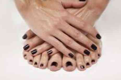 Absolut Bliss - Shellac manicure and pedicure - Save 71%
