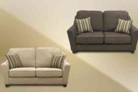 Smart Line Furniture - Capri two seater sofa with matching cushions - Save 0%