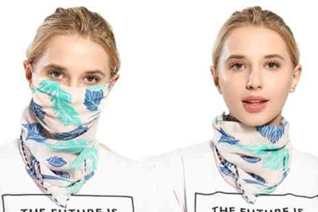 Groupon Goods Global GmbH - Flower Print Lightweight Scarf and Mask - Save 0%