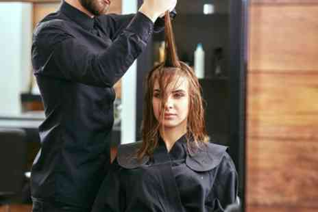 The Hairdressing Station - Wash, Cut and Blow-Dry with Optional Half Head of Highlights - Save 38%