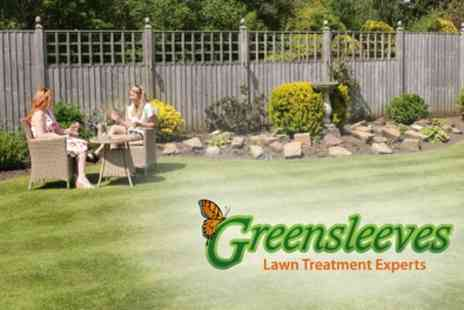Greensleeves Lawn Care - 400 Square Metres of Lawn Treatment with Weed Control - Save 60%