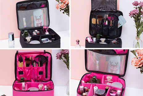 hey4beauty - Professional cosmetic portable compartment case - Save 0%