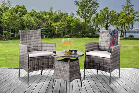 UK Furniture 4U - Two seater rattan patio set - Save 60%