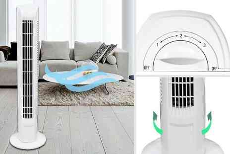 Wish Whoosh Offers - 32 inch oscillating tower fan - Save 58%