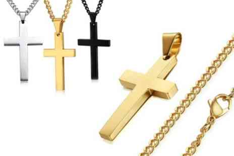 Groupon Goods Global GmbH - Stainless Steel Necklaces with Cross - Save 89%