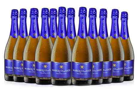 San Jamon - 12 bottle case of Marquis de Sade premium cava - Save 38%
