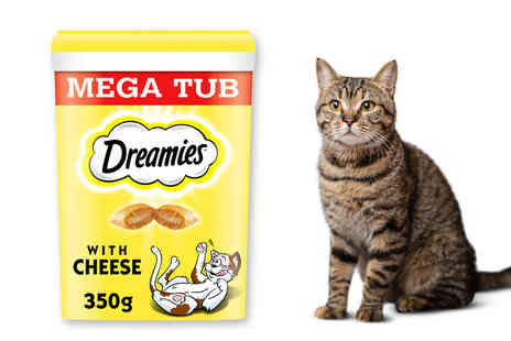 Trojan - 700g tub of Dreamies cheese adult cat treats - Save 0%