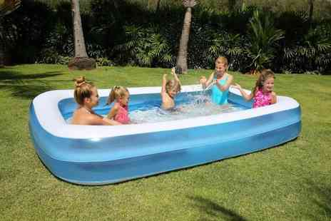 Wish Whoosh Offers - 110 x 88 x 33cm inflatable family swimming pool choose your size - Save 73%