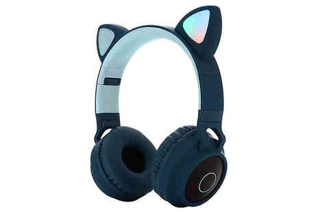 Shop Kitchen Home - Flashing and Glowing Cat Wireless Headphones - Save 42%