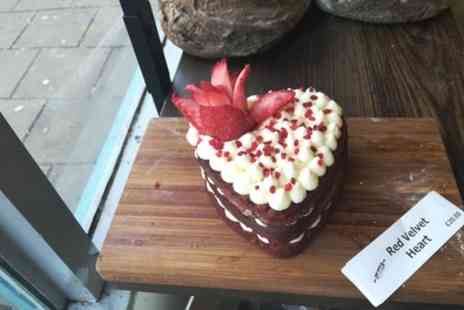 Intrepid Bakers - Valentines Heart Shaped Red Velvet Cake with Cream Cheese - Save 50%