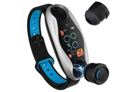 CN Direct Biz - 2 in 1 Smart Fitness Watch with Wireless Headphones - Save 44%