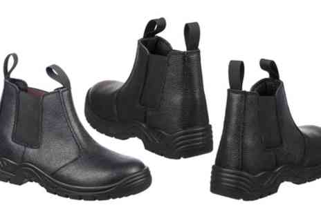 Groupon Goods Global GmbH - BKS Mens Black Slip On Safety Boots - Save 10%
