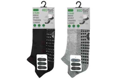 Groupon Good - Six Pairs of Mens Trainer Socks - Save 13%