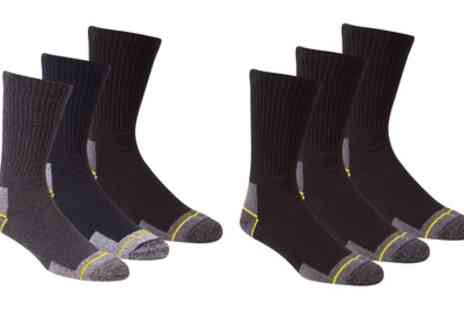 Groupon Good - Pack of Six Mens Work Socks - Save 21%