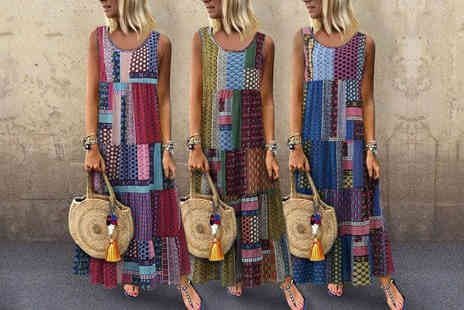 Domo Secret - Pinted summer maxi dress - Save 63%