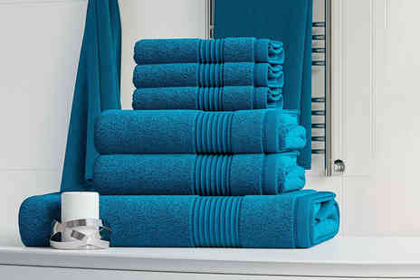 Bliss Home Living - Six piece 100% cotton towel bale set - Save 69%