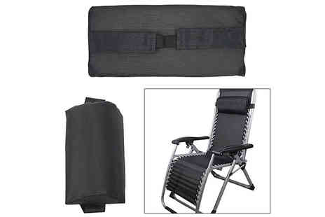 Domosecret - Black Sun Lounger Chair Cushion - Save 50%