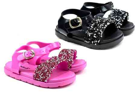 Shoe Fest - Pair of kids sparkle sandals - Save 0%