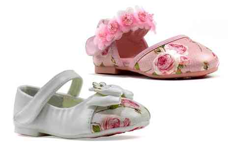 Shoe Fest - Pair of girls floral shoes - Save 0%