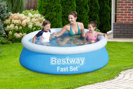 Direct2Public - Bestway 6FT round outdoor swimming pool - Save 71%