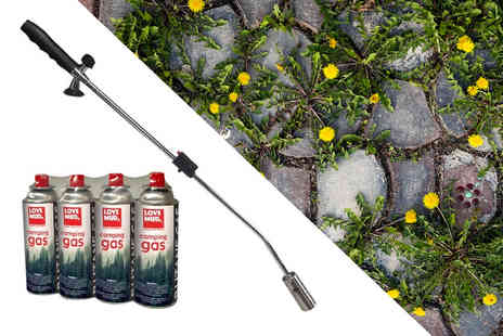 Vivo Mounts - Garden weed burner and four gas canisters - Save 65%