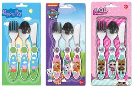 Groupon Good - Three Piece Character Cutlery Set for Children - Save 40%