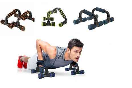 YelloGoods - Set of push up fitness bars - Save 75%