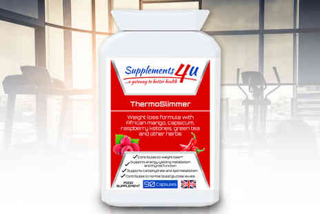 Supplements4U - 15 day supply of ThermoSlimmer weight loss capsules - Save 68%