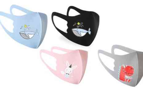 Groupon Goods Global GmbH - Three Pack of Kids 3D Cartoon Face Mask - Save 0%