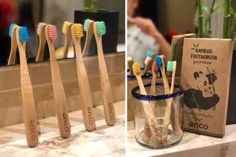 Wowcher Direct - Pack of four bamboo childrens toothbrushes - Save 0%