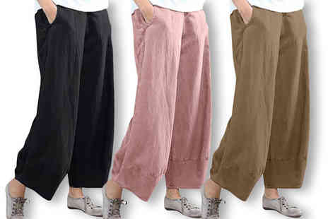 YelloGoods - Pair of womens wide leg trousers - Save 50%