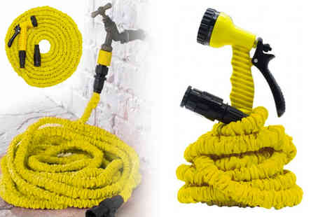 Groundlevel - 15 metre expandable hose and seven dial spray gun - Save 71%